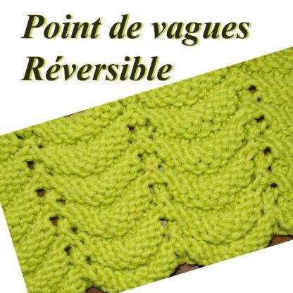 Point de vague au tricot
