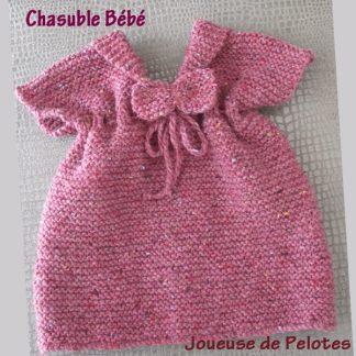 Chasuble Bébé en laine naturelle Fonty