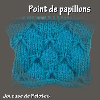 Joli point de Tricot - Point de papillons