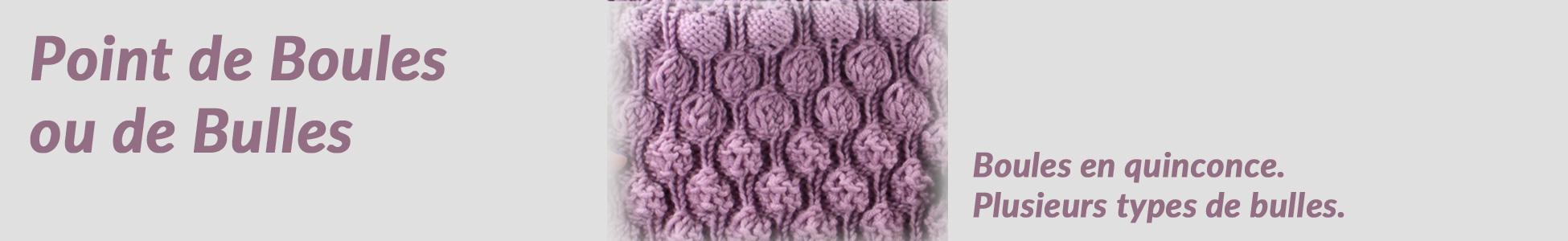 Point fantaisie de tricot : Boules ou bulles