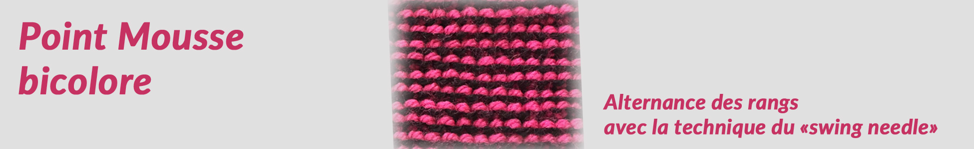 Point fantaisie de tricot : Mousse bicolore