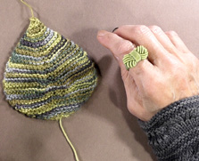 feuille au tricot