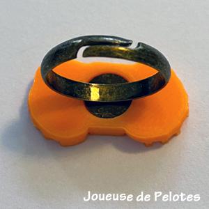 Bague pelote mandarine