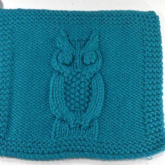 Mtif de chouette au tricot