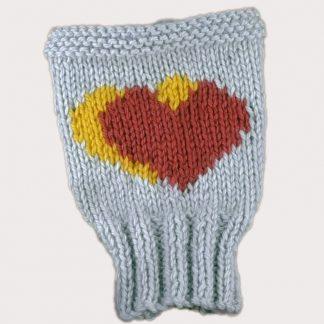 fiche tricot pour coeur en jacquard