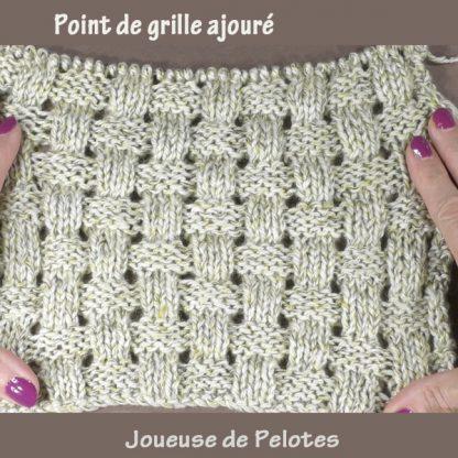 fiche tricot Point de grille